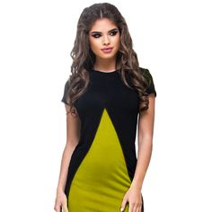 Casual Women Summer Dress 2017 New Women Sexy  Chic Contrast Color Female Mini Dress O-neck Short Sleeve Office Dresses vestidos #Affiliate