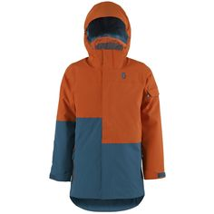 Scott TERRAIN DRYO Jackets (ORG/BLU). *DRYOsphere Technology**Insulation 80g**Non Removable Lining* Sport, Insulation, Rain Jacket, Windbreaker, Athletic, Technology, Jackets, Fashion, Deporte