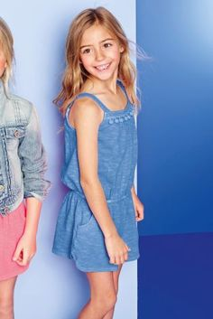 Garment Dyed Playsuit (3-16yrs) £16