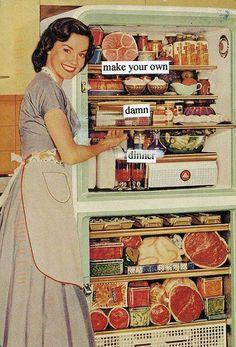 The menu is in the fridge