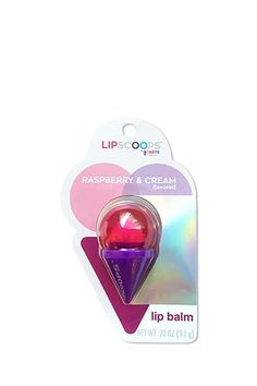 This Lip Scoops lip balm by Taste Beauty™ features a fun ice cream cone shape with a twist-off cap, and a raspberry and cream flavor. Diy Foot Soak, Glossier Lip Gloss, Forever 21, Lip Fillers, Happy Skin, Moisturizer With Spf, Glossy Lips, Wash Your Face, Lip Pencil