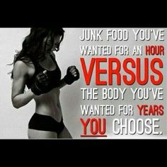 Fitness Motivational Quotes Junk Food You've Wanted For An Hour Versus The Body You've Wanted For Years. You Choose Fitness Studio Motivation, Health Motivation, Weight Loss Motivation, Exercise Motivation, Diet Exercise, Exercise Schedule, Exercise Equipment, Quotes Motivation, Daily Motivation