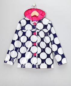 Take a look at this Navy Polka Dot Raincoat - Toddler & Girls by Pink Platinum & iXtreme on #zulily today!