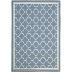 @Overstock - Perfect for your deck, kitchen, or poolside, this blue indoor/outdoor rug is both stylish and durable. Its geometric pattern makes it stand out, and its beige tones make it easy to match. This power-loomed rug resists mildew, mold, and the elements.http://www.overstock.com/Home-Garden/Blue-Beige-Indoor-Outdoor-Rug-8-x-112/6511725/product.html?CID=214117 $199.97