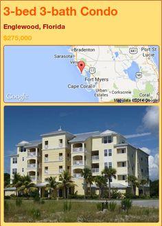 3-bed 3-bath Condo in Englewood, Florida ►$275,000 #PropertyForSale #RealEstate #Florida http://florida-magic.com/properties/79002-condo-for-sale-in-englewood-florida-with-3-bedroom-3-bathroom