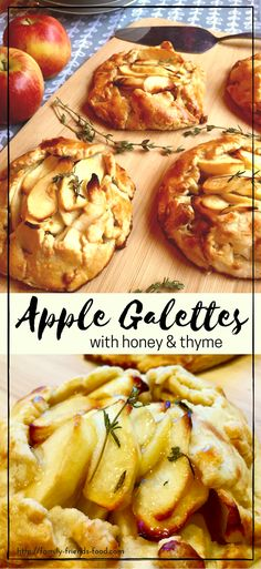 Rich buttery pastry is folded around a fragrant apple filling & baked to golden perfection! These rustic apple galettes are a gorgeous autumn dessert.