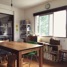 Japan Interior, Room Interior, Home Interior Design, Home Living Room, Living Room Decor, Living Spaces, Japanese Home Decor, Kitchen Dinning, Small House Design