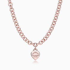 Return to Tiffany™ heart tag necklace in RUBEDO® metal.