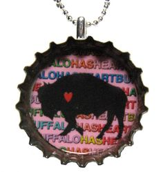 Buffalo Has Heart  Valentine Buffalo  Beer by SilentMyloStudio, $7.50