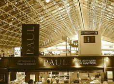 Paul Restaurant. Charles d'Gaulle Airport. Paris. France.
