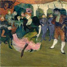 "Marcelle Lender Dancing the Bolero in ""Chilpéric""       Marcelle Lender Dancing the Bolero in Chilperic  Toulouse-Lautrec, Henri de     French, 1864 - 1901  Marcelle Lender Dancing the Bolero in ""Chilpéric"" 1895-1896     oil on canvas     overall: 145 x 149 cm (57 1/16 x 58 11/16 in.)      framed: 174.6 x 175.3 x 9.5 cm (68 3/4 x 69 x 3 3/4 in.)     Collection of Mr. and Mrs. John Hay Whitney     1990.127.1"