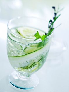 Tips to drink more water! I've got a carafe of water with mint, cucumber and lemon in my fridge right now :-)