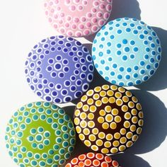 Items similar to Set of 6 Dotted Delight Drawer Knobs: Green, Red, Brown, Blue, Lavender and Pink Spotted Decorative Drawer Pulls on Etsy Door Knobs And Knockers, Knobs And Handles, Drawer Knobs, Knobs And Pulls, Drawer Pulls, Door Pulls, Cabinet Knobs, Door Handles, Painted Rocks