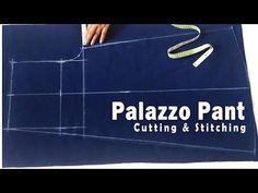Palazzo Pant Cutting & Stitching | Designer Palazzo Sewing Tutorial - YouTube