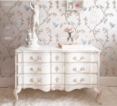 Delphine White Shabby Chic Chest of Drawers French Style (Chests of drawer)   image 2