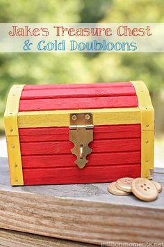 how to make a pirate treasure chest kindergeburtstag. Black Bedroom Furniture Sets. Home Design Ideas
