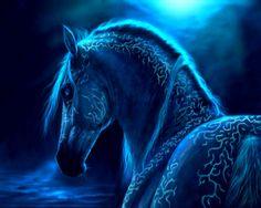 3D Fantasy Art Horses   fantasy horse blue magical free desktop wallpaper download fantasy ...
