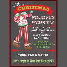 PRINTABLE Holiday Pajama Party Invitations by yourblissfulday
