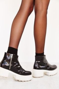 f05b1aa75ef Cheap Monday Tractor High Chunky Boot Indie Festival