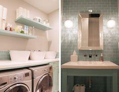 gorgeous #seafoam #laundry/#bathroom #tile and paint color
