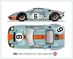 I Jacky Ickx Le Mans 1969 Winner Ford Gt40, Classic Motors, Classic Cars, Muscle Cars, Car Illustration, Vintage Race Car, Mustangs, Car Ford, Ford Motor Company