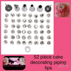 Piping tips icing piping nozzles tips 52 by Lovetobakeandcraft