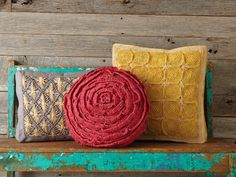 These fair trade pillows are handmade in Madagascar by local artisans.