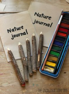 Going on a family nature hike? Create a nature journal along the way with your kids