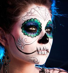 Sugar Skull makeup for Halloween party