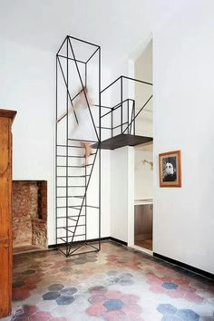 Vertical stairs!