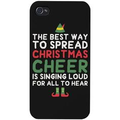 The Best Way to Spread Christmas Cheer phone case for iphone 4, iphone... ❤ liked on Polyvore featuring accessories, tech accessories, phone cases, phones, cases, electronics, lg smartphones and galaxy smartphone
