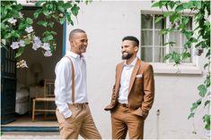 Abigail & Angelo | Wedding | Natte Valleij | Stellenbosch Brown Suit Wedding, Wedding Suits, Our Wedding, Wedding Stuff, Brown Groomsmen, Groom And Groomsmen, Brown Suits, Wedding Company, Wedding Mood Board