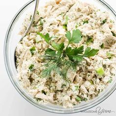 This easy chicken salad recipe is packed with flavorful herbs. Learn how to make… This easy chicken salad recipe is packed with flavorful herbs. Learn how to make simple, healthy chicken salad in just a few minutes! Salad Recipes Video, Salad Recipes For Dinner, Healthy Recipe Videos, Healthy Salad Recipes, Low Carb Recipes, Healthy Snacks, Vegetarian Recipes, Diabetic Recipes, Healthy Skin