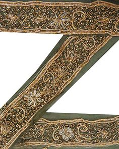 Vintage Indian Trim 1YD Sari Border Deco Green Hand Beaded Lace Ribbon Art Craft ValueVintage http://www.amazon.com/dp/B00PGNKEVQ/ref=cm_sw_r_pi_dp_M5chvb12QX11C