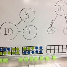Math wall.. making 10 Pool noodles on the whiteboard edge! #abacus #oldschool #handson #teachersfollowteachers #teachersofinstagram #teacherspayteachers #firstgrade #math