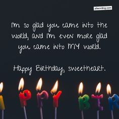 Sweet happy birthday wish for a romantic partner birthday boyfriend 33 Romantic Birthday Wishes That Will Make Your Sweetie Swoon Birthday Quotes For Girlfriend, Happy Birthday Love Quotes, Happy Birthday Wishes For Him, Romantic Birthday Wishes, Birthday Message For Boyfriend, Birthday Wish For Husband, Birthday Greetings, Bday Wishes For Husband, Happy Birthday Husband Romantic
