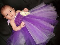 too over the top for flower girl?    Purple TuTu Dress For Baby Baby Photo Prop by kaytestreasures, $35.99