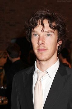 Benedict Cumberbatch standing there being gorgeous. you are welcome.