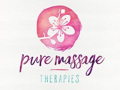 Pure Massage Therapies Logo-Final 2 by J.Moss on Dribbble Spa Business Cards, Business Card Design, Business Ideas, Spa Branding, Branding Design, Massage Websites, Logo Inspiration, Logo Color Schemes, Massage Logo