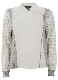 Grey & Ivory Knit Mix Cardigan