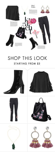"""""""Total black"""" by stellina-from-the-italian-glam ❤ liked on Polyvore featuring Vanity Fair and tarte"""
