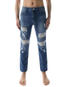 Destroyed Ankle Jeans
