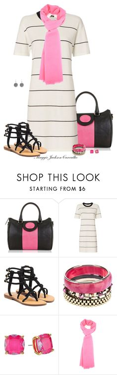 """""""T-shirt Dress"""" by maggie-jackson-carvalho ❤ liked on Polyvore featuring Flaska Laverne, Monrow, Mystique, Iosselliani and Kate Spade"""