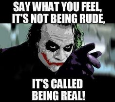 We all should be real!