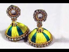 Ear Rings Fashion Designs Hand Made With Silk Thread Earrings Fashi