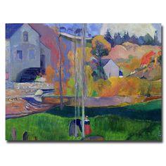 Paul Gauguin 'Brittany Landscape - David Mill 1894' Art