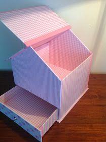 Diy Cardboard Furniture, Cardboard Paper, Cardboard Crafts, Diy Gift Box, Diy Box, Cardboard Organizer, Fabric Covered Boxes, Desk Organization Diy, Popsicle Crafts