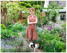 My garden-hero, Alys Flowler. Ok I'll admit it I've got a bit of a girl crush going on. She's an amazing creative gardener, forager and vintage lover. No fear gardening and foraging in her vintage frocks! Oh an the cutest little Jack Russell too.