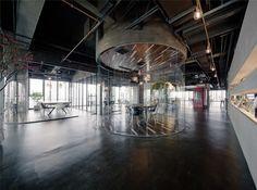 LEO headquarters in Shanghai distinct work spaces