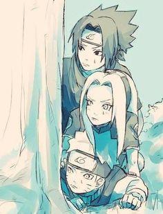 Sasuke Sakura y Naruto Naruto Uzumaki, Anime Naruto, Naruto And Sasuke, Manga Anime, Naruto Fan Art, Kakashi Sensei, Naruto Sasuke Sakura, Naruto Cute, Fanarts Anime
